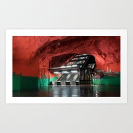 Solna Centrum Metro Station in Stockholm, Sweden Art Print