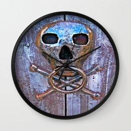 Skull and Cross Bones Knocker Wall Clock