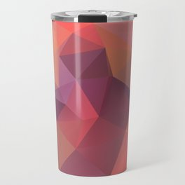 Bright polygonal triangle abstract design Travel Mug