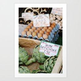 Borough Market Eggs + Artichokes Art Print