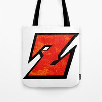 dbz Tote Bags featuring DBZ by Bradley Bailey