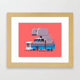 """Watch out for bridges and hop-ons. You're going to get some hop-ons."" Framed Art Print"