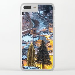 Christmas Village Clear iPhone Case