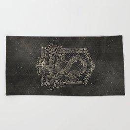 Slytherin House Beach Towel
