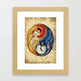 Duel of the Sun and Moon Framed Art Print