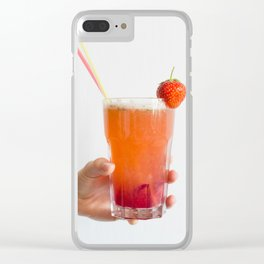 Strawberry Juice Clear iPhone Case