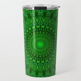 Green Bohemian Mandala Garden Travel Mug