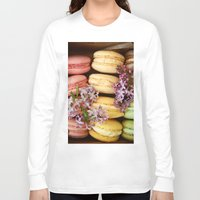 macaroons Long Sleeve T-shirts featuring Pretty Macaroons by Olivia Joy StClaire