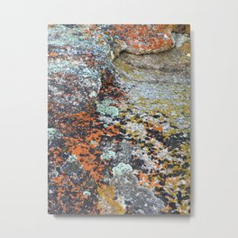 Coloured Rocks Metal Print