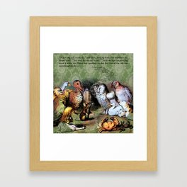 Alice's Adventures in Wonderland Chapter 3: A Caucus-Race and a Long Tale Framed Art Print
