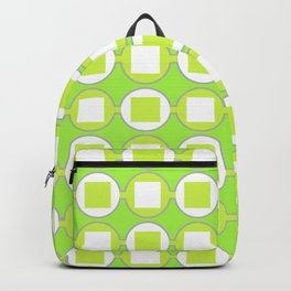 Lime Green Contemporary Bead Pattern Backpack
