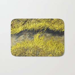 Watercolor Algae, Bladder Wrack 04, Nova Scotia, Canada, Watery Wrack Channels Bath Mat