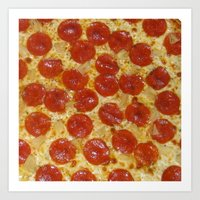 pizza Art Prints featuring Pizza by Callmepains