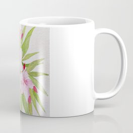 Watercolor Nerium Oleander Crown Coffee Mug