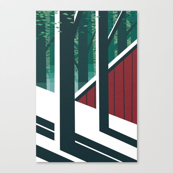 Behind the barn Canvas Print