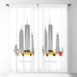 New York City, NYC Skyline Blackout Curtain