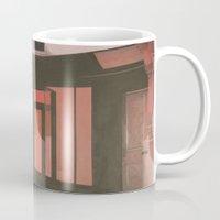 subway Mugs featuring Subway by Janet Wareing
