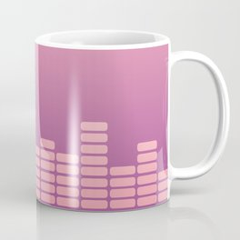 Pink Equalizer Coffee Mug