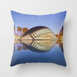 City of Arts and Sciences, Valencia, Spain. Throw Pillow