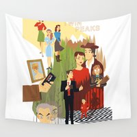 twin peaks Wall Tapestries featuring Twin Peaks by Collectif PinUp!