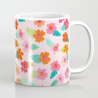 hibiscus Mugs featuring Hibiscus by Abby Galloway