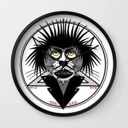 CRAZY PUNK CAT Wall Clock