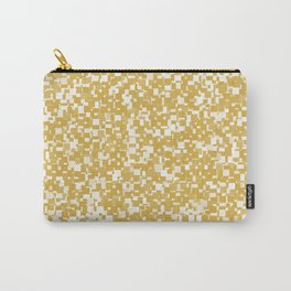 Spicy Mustard Pixels Carry-All Pouch