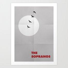 The Sopranos Minimalist Poster Art Print