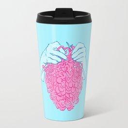 Knitting a brain Travel Mug
