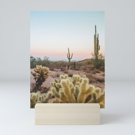 Arizona Cactus Sunset Mini Art Print