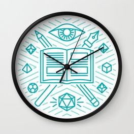 Dungeon Master Emblem Wall Clock