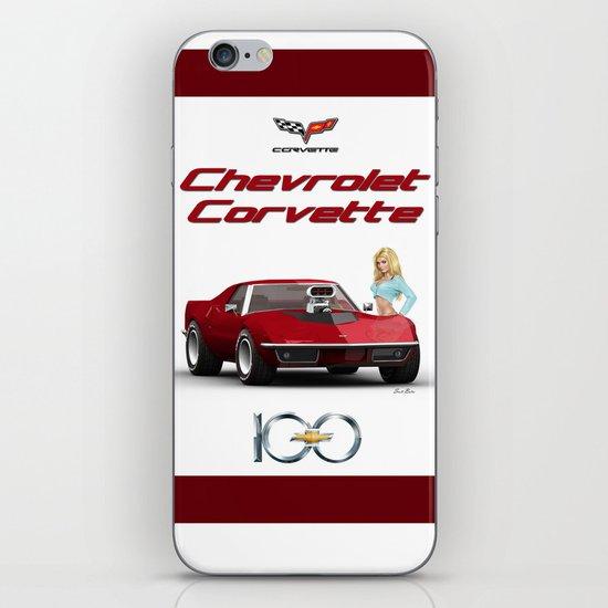 Corvette & Blonde iPhone & iPod Skin