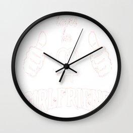 GIRL FRIEND LOVE THIS GIRL Wall Clock