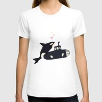killer whale T-shirts featuring K is for Killer whale by Yetiland