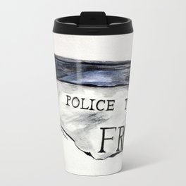 Rip- Torn Tardis Call Box Sign Travel Mug