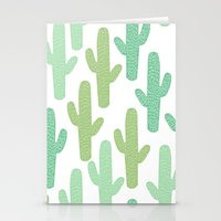 cacti Stationery Cards featuring cacti by ELLA CHERREY