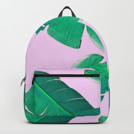 Banana Palm, muck and teal Backpack