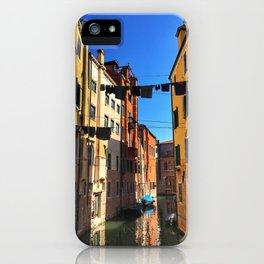 Laundry Day in Venice iPhone Case