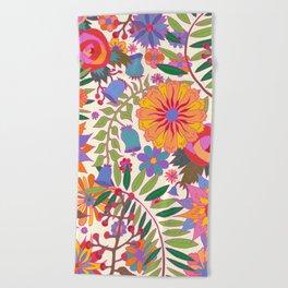 Just Flowers Lite Beach Towel