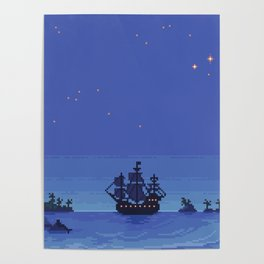 The Jolly Roger - Second Star to the Right Poster