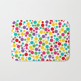 Colorful Abstract Rainbow Polkadot Bath Mat