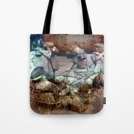 Every face wears a mask (1941) Tote Bag