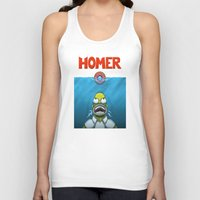 homer Tank Tops featuring HOMER by BC Arts