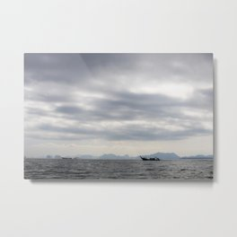 Boats of Phang-nga National Park Metal Print