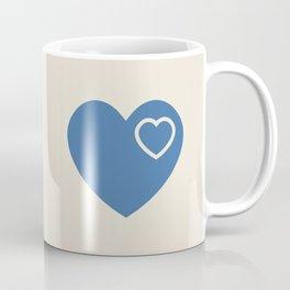 Forever In My Heart - Blue & Cream Coffee Mug