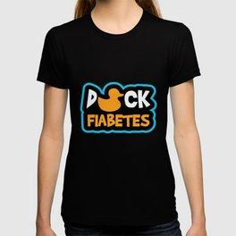 Funny Diabetic Duck Gift Type 1 Diabetes T-shirt