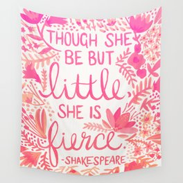 Little & Fierce – Pink Ombré Wall Tapestry