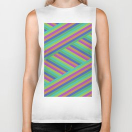 Stripes By Shuvaloff Biker Tank