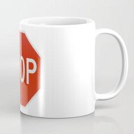 Red Traffic Stop Sign Coffee Mug
