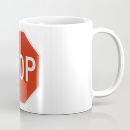 Red Traffic Stop Sign Coffee Mug